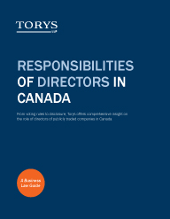 Directors in Canada Business Law Guide