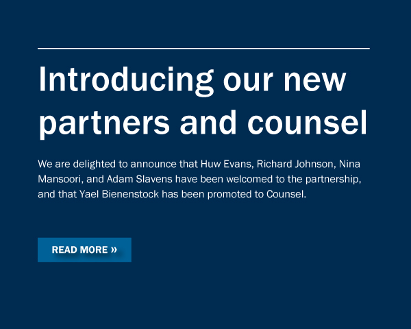 New partners and counsel