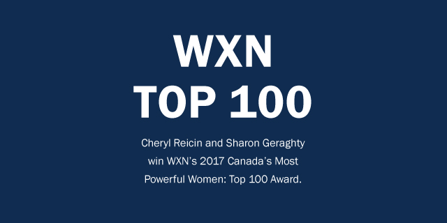 WXN top 100 winners Cheryl Reicin and Sharon Geraghty