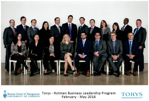 Torys - Rotman Business Leadership Program 2016