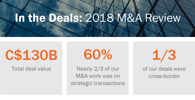 2018 M&A Review Infographic