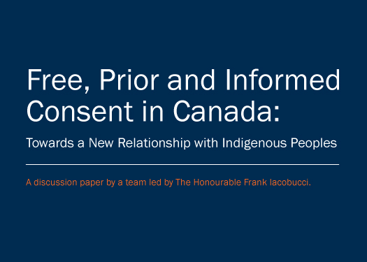 Free, Prior and Informed Consent in Canada: Towards a New Relationship with Indigenous Peoples