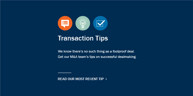 Transaction Tips